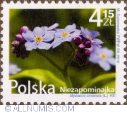 Image #1 of 4,15 Zloty 2010 - Forget-me-not (Myosotis Arvensis)