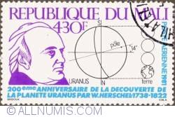 Image #1 of 430 Francs 1981 - Uranus discovery bicentennial