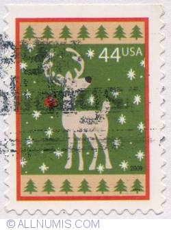 Image #1 of 44 Cents - Christmas: Reindeer-Green