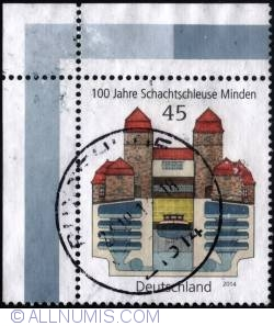 Image #1 of 45 €c. - 100 Jaher Schachtschleuse Minden 2014