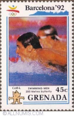 Image #1 of 4¢ 1990 -Men's 200 meter butterfly