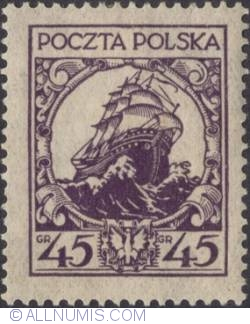 Image #1 of 45 Groszy 1926 - Ship of State