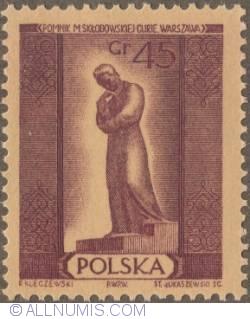 Image #1 of 45 groszy 1955 - Marie Sklodowska Curie