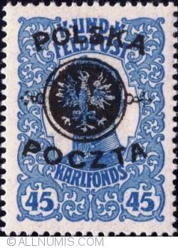 Image #1 of 45 Halerzy 1918 - Emperor Karl 1 - overprinted