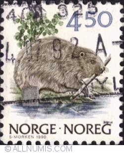4,50 Kroner 1990 - Beaver