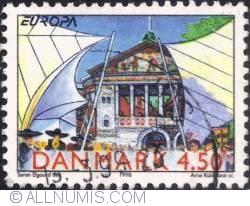 Image #1 of 4,50 kroner 1998 - Theater, tents at Arhus Festival Week, Arhus.