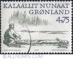 4,75 Krone 1999 - Man on driftwood