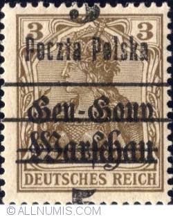 Image #1 of 5 Fenigow on 3 Pfennig 1918 - Germany