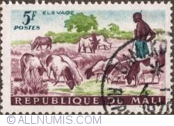 Image #1 of 5 Francs 1961 - Sheperd and Sheep