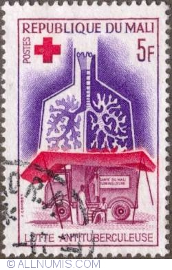 Image #1 of 5 Francs 1965 - Mobile X-ray Unit and Lungs
