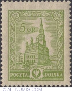 Image #1 of 5 Groszy 1925 - Poznań Town Hall or Ratusz