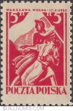 5 Zlotych 1945 - Warszaw free