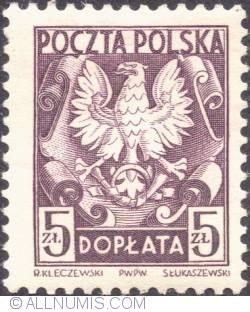 Image #1 of 5 złotych- Polish Eagle