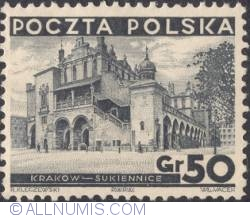 Image #1 of 50 Groszy 1935 - Cloth Hall, Cracow