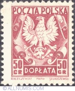 Image #1 of 50 groszy- Polish Eagle