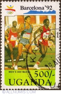 Image #1 of 500 Shillings 1991 - 800-meter race