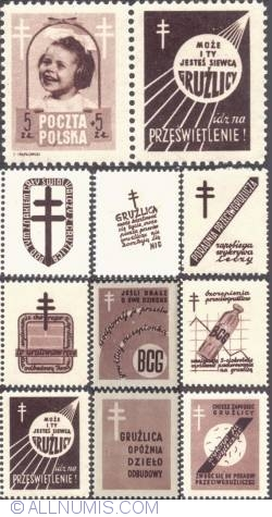 Image #1 of 5+5 złotych 1948 -  Infant and TB Crosses