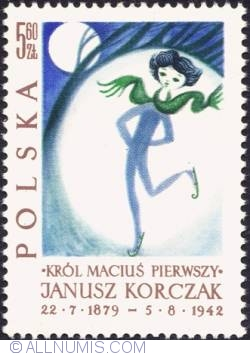 "Image #1 of 5,60 złotego - King ice skating in moonlight.. (Illustration from ""King Matthew"" books:)"