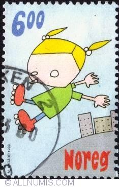 Imaginea #1 a 6 Kroner 1999 - Roller skater