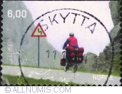 Imaginea #1 a 6 Kroner 2004 - Bicyclist in Moskenes