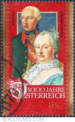Image #1 of 6 Schillings - Maria Theresia and  Joseph II 1996