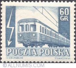 Imaginea #1 a 60 groszy 1953 - Electric Passenger train
