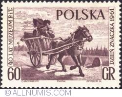 Image #1 of 60 groszy - Mail Cart, by Jan Chelminski (brown)