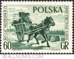Image #1 of 60 groszy - Mail Cart, by Jan Chelminski (green)