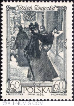 Image #1 of 60 groszy - Woman mailing letter Warsaw  (Aleksander Kamiński)