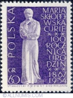 Imaginea #1 a 60 groszy1967 - Maria Skłodowska-Curie (monument)
