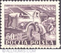Image #1 of 60+20 groszy 1953 - Truck factory in Lublin