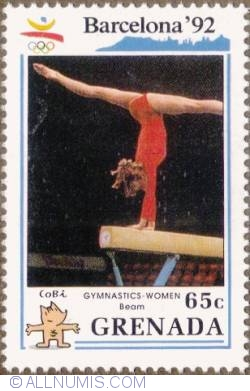 65¢ 1990 -  Balance beam