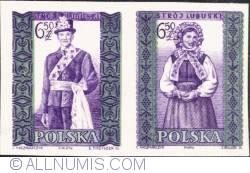 Image #1 of 6,50 złotego; 6,50 złotego - Man and woman from Lubusk (imperf.)