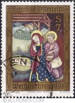 Image #1 of 7 schilling 1998 - Fresco from Tainach/Tinje Church, 98) Carinthia.