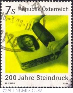 Image #1 of 7 schilling 1998 - Portrait of Aloys Senefelder