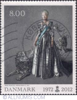 Image #1 of 8 kroner 2012 - 40th Reign Anniversary of Queen Margrethe II