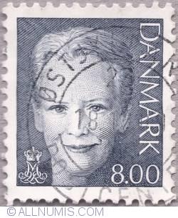 8,00 kroner - Queen Margarethe II
