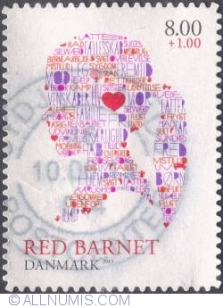 Image #1 of 8+1 krone - Red Barnet (Girl in silhouette formed by words and symbols)