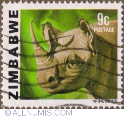 Imaginea #1 a 9 Cents 1980 - Black Rhinoceros