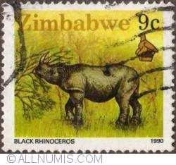 Imaginea #1 a 9 Cents 1990 - Black Rhinoceros