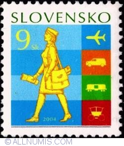 Image #1 of 9 koruna 2004 -Stamp Day