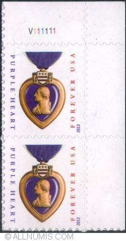Image #1 of Forever (no value) (45c.) - Purple Heart 2012