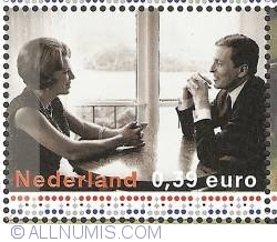 Image #1 of 0,39 Euro 2003 - Engagement of Princess Beatrix with Claus von Amsberg (1965)