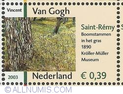 0,39 Euro 2003 - Vincent van Gogh - Tree Trunks in the Grass (1890)