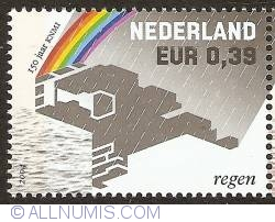 Image #1 of 0,39 Euro 2004 - 150 Years of Royal Dutch Meteorological Institute