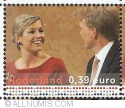 Image #1 of 0,39 Euro 2004 - Engagement Announcement Willem-Alexander and Maxima
