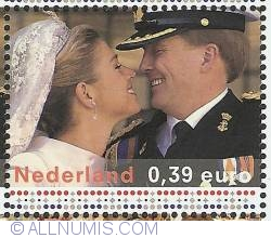 Image #1 of 0,39 Euro 2004 - Wedding Willem-Alexander and Maxima