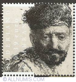 Image #1 of 0,39 Eurocent 2006 - Rembrandt - Man with Beard and Eastern Clothes