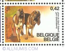 Image #1 of 0,42 Euro 2002 - St. Hubert Hound (Bloodhound)
