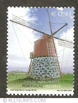 Image #1 of 0,43 Euro 2002 - Windmill on Ilha do Faial - Açores
